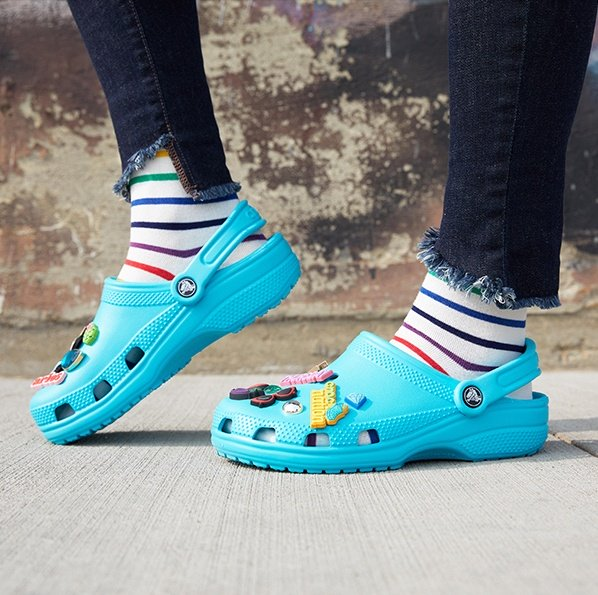 Classic Clog in Ice Blue.