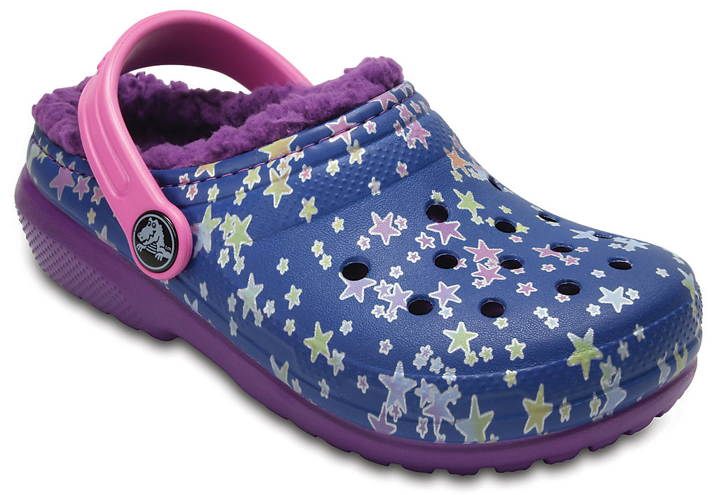 Купить Kids' Classic Fuzz Lined Graphic Clog, crocs, 4HF