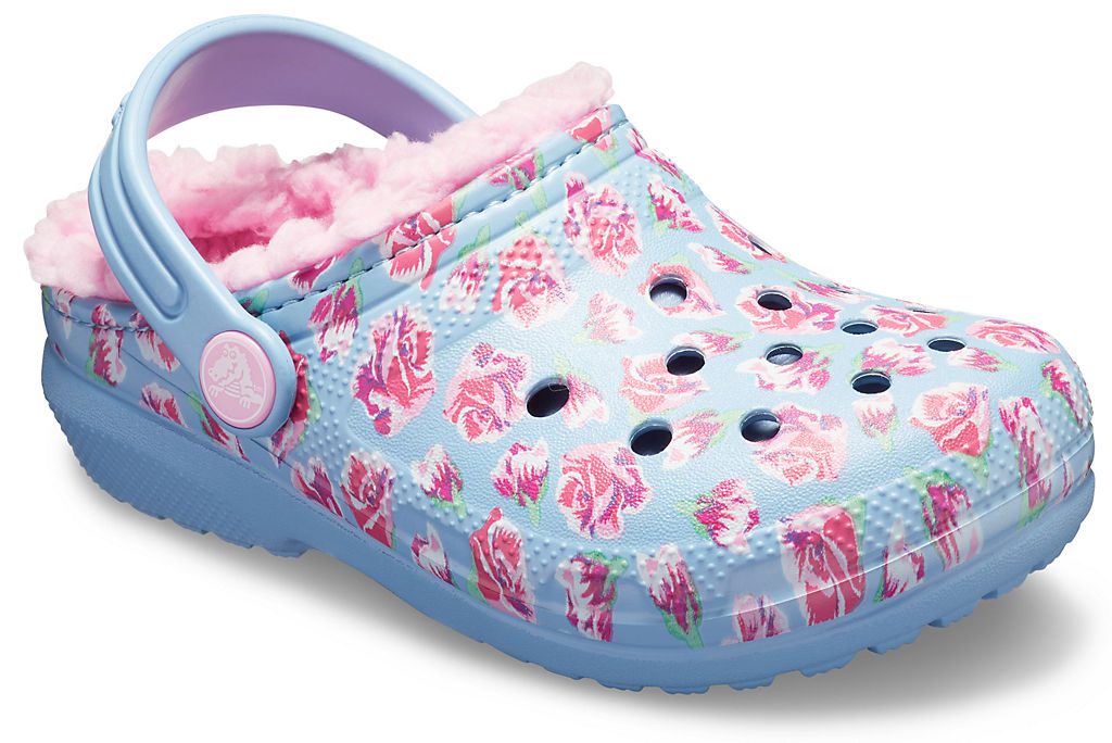 Купить Kids' Classic Fuzz Lined Graphic Clog, crocs, 4IL