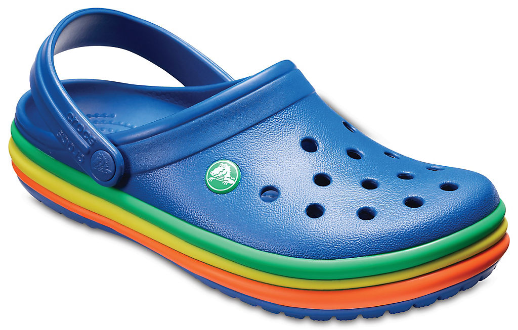 Crocband™ Rainbow Band Clogs