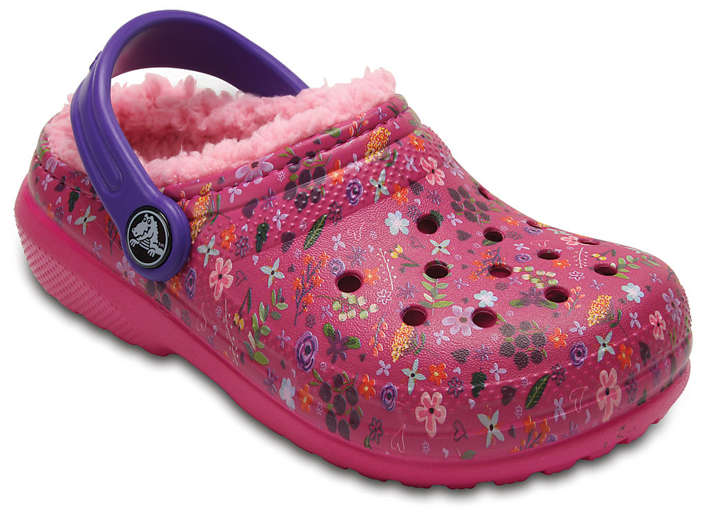 Купить Kids' Classic Fuzz Lined Graphic Clog, crocs, 6MW