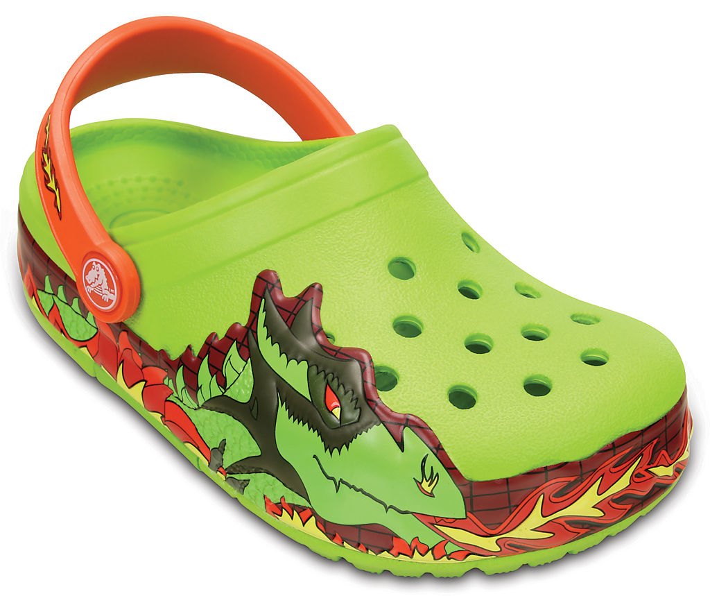 Купить Kids' CrocsLights Fire Dragon Clog, 395
