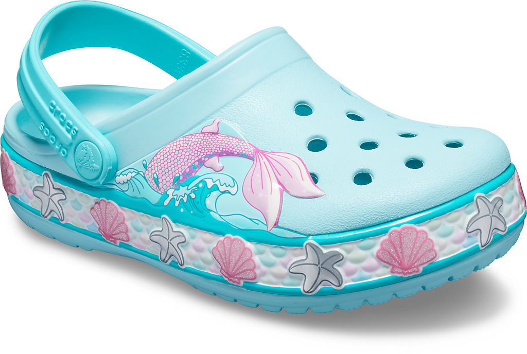 Фото - Kids' Crocs Fun Lab Mermaid Band Clog цвет 4o9